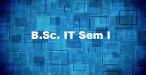 Bsc-IT SEM I